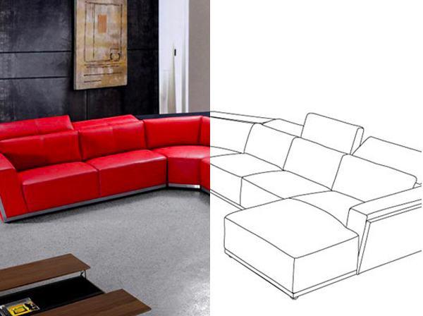 Bilder vektorisieren - rotes Sofa