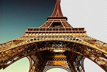 Bilder maskieren - Eiffelturm Paris